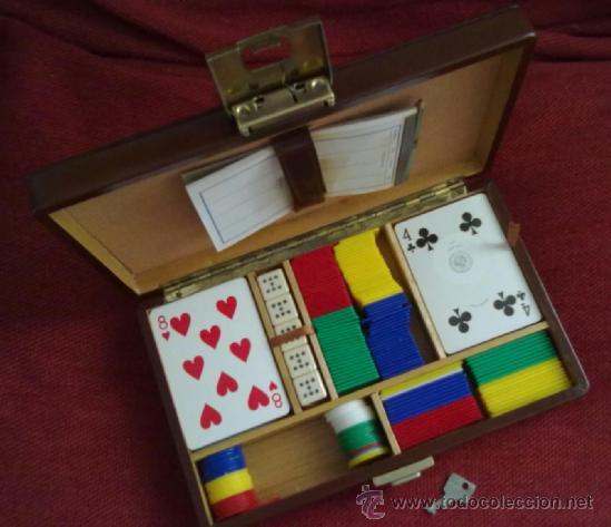 Caja De Piel Y Madera Con Llave Juego De Cartas Comprar Juegos De