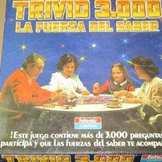 Juegos de mesa: TRIVIO 3000 - LA FUERZA DEL SABER - AÑOS 80 - FALOMIR - JUEGO DE MESA ANTIGUO. Lote 36800232