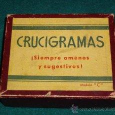 Juegos de mesa: ANTIGUO JUEGO DE MESA - CRUCIGRAMAS - EL INICIO DE PALABRAS CRUZADAS. Lote 36707619