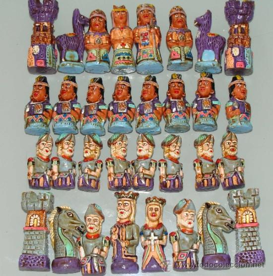Bonito juego de ajedrez imperio inca vs conqui comprar - Juego para hacer ceramica ...