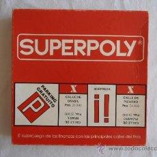 Juegos de mesa: JUEGO DE MESA SUPERPOLY FALOMIR JUEGOS COMPLETO. Lote 37613394