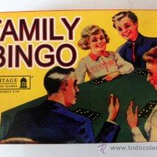 Juegos de mesa: FAMILY BINGO JUEGO BASADO EN EL ORIGINAL DE 1950 * HERITAGE TOYS AND GAMES. Lote 37674559