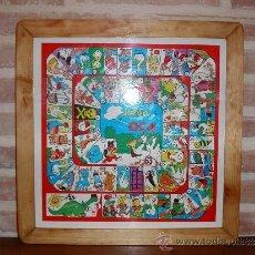 Juegos de mesa: ANTIGUO TABLERO JUEGO PARCHIS & OCA -MARCADO J.R CON MARCO DE MADERA.. Lote 37695144