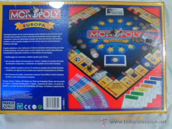 Monopoly Europa Juego De Mesa Hasbro Ano 2001 N Comprar Juegos De