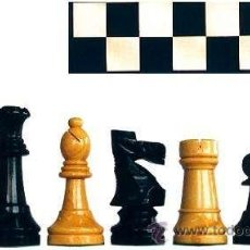Juegos de mesa: CHESS. CONJUNTO DE AJEDREZ DE MADERA STAUNTON J-27. PIEZAS FS-5 Y TABLERO TNS-48E. Lote 37816201