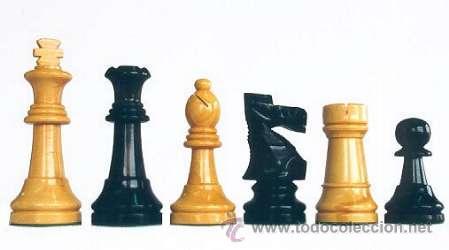Juegos de mesa: Conjunto de ajedrez de madera Staunton J-27. Piezas FS-5 y Tablero TNS-48E - Foto 2 - 37816201