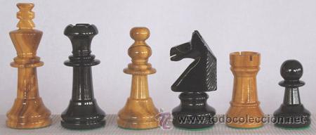 Juegos de mesa: Conjunto de ajedrez de madera Inglés Olivo J-30. Piezas FIO-5 y Tablero TOL-43E olivo/negro - Foto 2 - 37836286