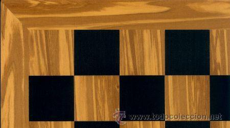 Juegos de mesa: Conjunto de ajedrez de madera Inglés Olivo J-30. Piezas FIO-5 y Tablero TOL-43E olivo/negro - Foto 3 - 37836286