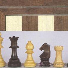 Juegos de mesa: CONJUNTO DE AJEDREZ DE MADERA EUROPA NOGAL J-32. PIEZAS FSE-3 Y TABLERO TN-40E. Lote 37846324