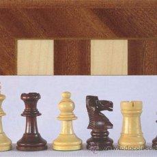 Juegos de mesa: CONJUNTO DE AJEDREZ DE MADERA STAUNTON CAOBA PULIDO J-33. PIEZAS FS-3-PUL Y TABLERO TDS-1. Lote 37848647