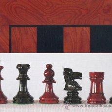 Juegos de mesa: CONJUNTO DE AJEDREZ DE MADERA STAUNTON ROJO/NEGRO J-36. PIEZAS FS-3/RN Y TABLERO TRN-1. Lote 37853732