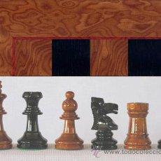 Juegos de mesa: CONJUNTO DE AJEDREZ DE MADERA STAUNTON MIEL/NEGRO J-37. PIEZAS FS-3/MN Y TABLERO TMN-1. Lote 37853960
