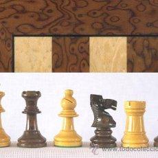 Juegos de mesa: CONJUNTO DE AJEDREZ DE MADERA STAUNTON NATURAL/NOGAL J-38. PIEZAS FS-3 Y TABLERO TAA-1. Lote 37865321