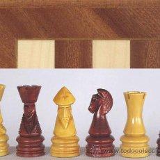 Juegos de mesa: CONJUNTO DE AJEDREZ DE MADERA CORONA DECORADO J-19. PIEZAS FD-22 Y TABLERO TDS-1. Lote 37866615