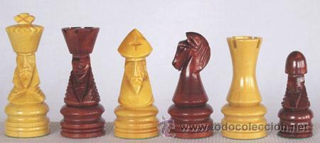Juegos de mesa: Chess. Conjunto de ajedrez de madera Corona decorado J-19. Piezas FD-22 y Tablero TDS-1 - Foto 2 - 37866615