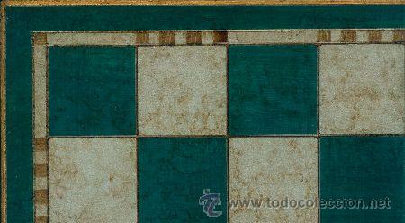 Juegos de mesa: Conjunto de ajedrez de madera Staunton Europa verde/plata J-22/V. Piezas FSE-5V y Tablero TPOL-44V - Foto 2 - 38081558