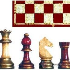 Juegos de mesa: CONJUNTO DE AJEDREZ DE MADERA STAUNTON EUROPA ROJO/PLATA J-22/R. PIEZAS FSE-5R Y TABLERO TPOL-44R. Lote 38081615