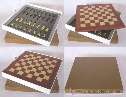 Juegos de mesa: Conjunto de ajedrez de madera Staunton Europa rojo/plata J-22/R. Piezas FSE-5R y Tablero TPOL-44R - Foto 4 - 38081615