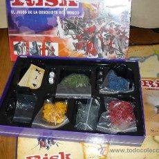 Juegos de mesa: JUEGO DE MESA RISK EL JUEGO DE LA CONQUISTA DEL MUNDO 6 JUGADORES PARKER 2004 COMPLETO. Lote 38348849