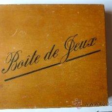 Juegos de mesa: CAJA DE MADERA ANTIGUA DE JUEGOS DE MESA . BOITE DE JEUX RULETA . ENANO . PARCHIS CABALLO . BINGO.... Lote 38615562