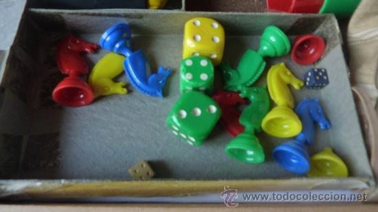 Juegos de mesa: CAJA DE MADERA ANTIGUA DE JUEGOS DE MESA . BOITE DE JEUX ruleta . enano . parchis caballo . bingo... - Foto 2 - 38615562