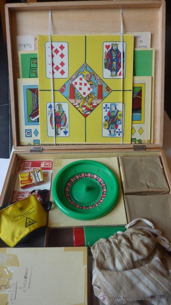 Juegos de mesa: CAJA DE MADERA ANTIGUA DE JUEGOS DE MESA . BOITE DE JEUX ruleta . enano . parchis caballo . bingo... - Foto 4 - 38615562