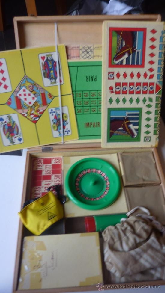 Juegos de mesa: CAJA DE MADERA ANTIGUA DE JUEGOS DE MESA . BOITE DE JEUX ruleta . enano . parchis caballo . bingo... - Foto 5 - 38615562