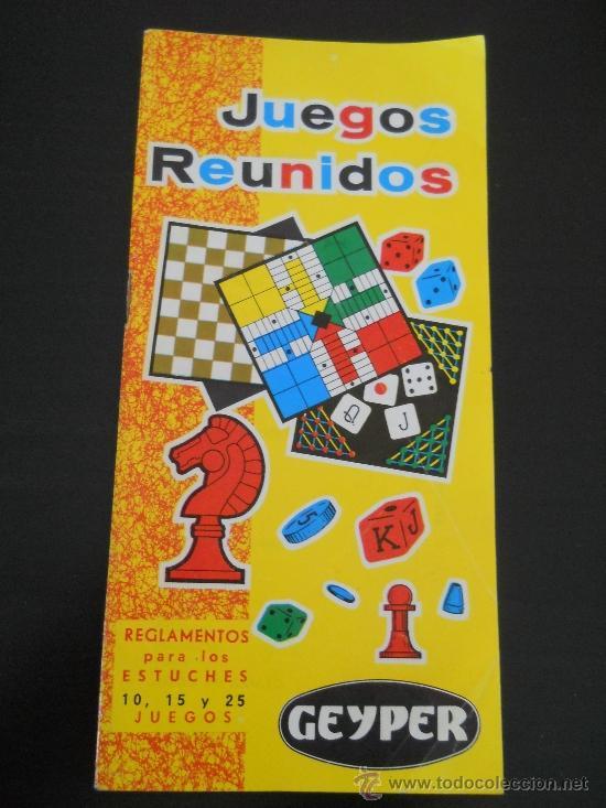 Instrucciones De Juegos Reunidos Geyper Regla Comprar Juegos De
