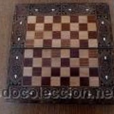 Juegos de mesa: BACKGAMMON Y TABLERO AJEDREZ DE TARACEA. Lote 38745770