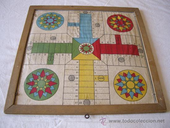 ANTIGUO TABLERO DE PARCHIS Y JUEGO DE LA OCA (Juguetes - Juegos - Juegos de Mesa)