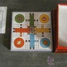 Juegos de mesa: JUEGO DE PARCHÍS Y DAMAS EN MINIATURA EN CAJA DE 12X12CM. VER DESCRIPCIÓN.. Lote 38759765