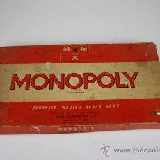 Juegos de mesa: MONOPOLY INGLÉS DE 1961 - PROPERTY TRADING BOARD GAME - INCLUYE DOS TABLEROS Y LAS INSTRUCCIONES. Lote 39254343