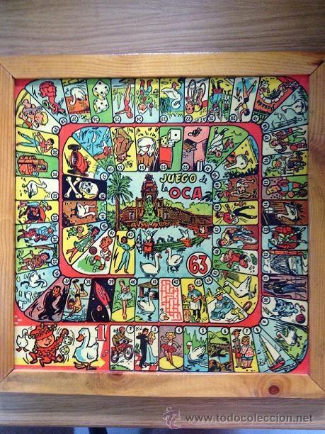 Antiguo tablero del juego de la oca parchis comprar juegos de mesa antiguos en todocoleccion - La oca juego de mesa ...