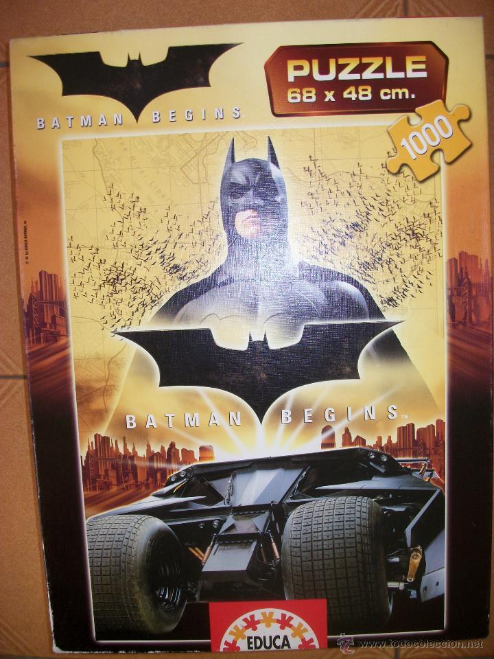 PUZZLE BATMAN BEGINS - 1000 PIEZAS - 68X48 - EDUCA (Juguetes - Juegos - Juegos de Mesa)