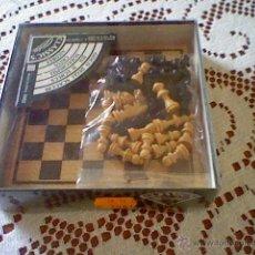 Juegos de mesa: MINI JUEGO DE MADERA GOULA - AJEDREZ - ( MAS 5 EUROS GASTOS ENVIO) 23X23X1,5 CM APROX - NUEVO. Lote 40334425