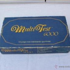 Juegos de mesa: MULTI TEST 6000 ** 1987 ** FACTOR GAMES ** COMPLETO- JUEGO DE MESA. Lote 40740016