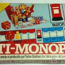 Juegos de mesa: ANTI MONOPOLY DE DIDACTA AÑOS 1983-A ESTRENAR Y PRECINTADO. Lote 40747701
