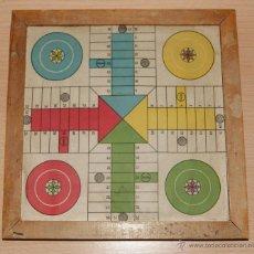 Juegos de mesa: ANTIGUO PARCHIS DE MADERA Y PAPEL-TRASERA CARTÓN, SIN CRISTAL. AÑO 1950. Lote 40833162