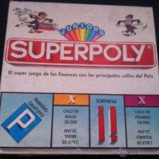 Juegos de mesa: ANTIGUO JUEGO SUPERPOLY JUNIORS, DE FALOMIR. MUY BIEN CONSERVADO Y COMPLETO.. Lote 40846732