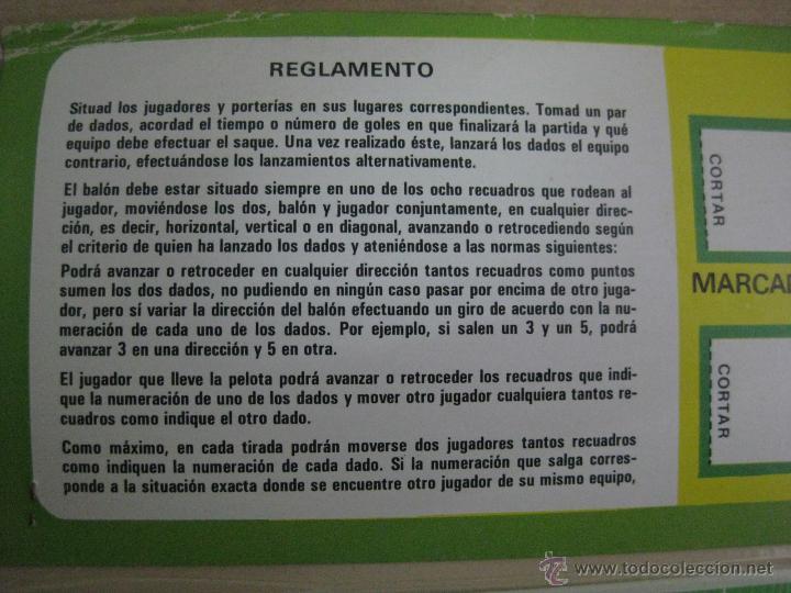 Juegos de mesa: DADO GOL FUTBOL - ED. RUIZ ROMERO, BARCELONA - JUEGO NUEVO PRECINTADO SIN ESTRENAR - AÑO 1980 - Foto 3 - 96833671