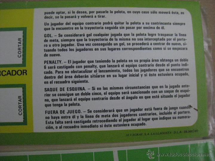 Juegos de mesa: DADO GOL FUTBOL - ED. RUIZ ROMERO, BARCELONA - JUEGO NUEVO PRECINTADO SIN ESTRENAR - AÑO 1980 - Foto 4 - 96833671