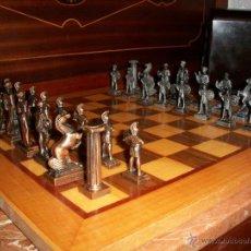 Juegos de mesa: AJEDREZ ROMANO EN BRONCE AÑOS 60. Lote 41140308