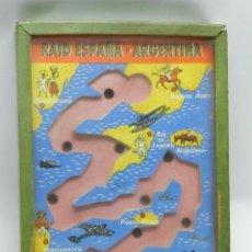 Juegos de mesa: JUEGO DE HABILIDAD RAID ESPAÑA / ARGENTINA - REALIZADO EN MADERA - AVIACION - MIDE 15,5 X 10 CMS.. Lote 41153145