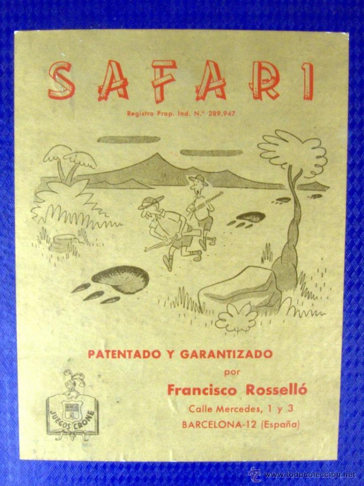 SAFARI - JUEGOS CRONE - AÑOS 50' (TABLERO DE JUEGO) (Juguetes - Juegos - Juegos de Mesa)