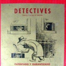 Juegos de mesa: DETECTIVES - JUEGOS CRONE - AÑOS 50' (TABLERO DE JUEGO). Lote 41296175