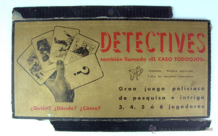 Juegos de mesa: DETECTIVES - JUEGOS CRONE - AÑOS 50 (TABLERO DE JUEGO) - Foto 4 - 41296175