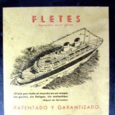 Juegos de mesa: FLETES - JUEGOS CRONE - AÑOS 50' (TABLERO DE JUEGO). Lote 41296182