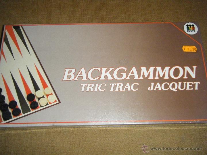 JUEGO DE MESA BACKGAMMON DE DISET - CAJA SIN DESPRECINTAR- TRIC TRAC JAQUET (Juguetes - Juegos - Juegos de Mesa)