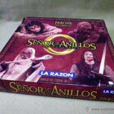 Juegos de mesa: JUEGO DE MESA, PARCHIS, EL SEÑOR DE LOS ANILLOS, EDITADO POR LA RAZON. Lote 41415373