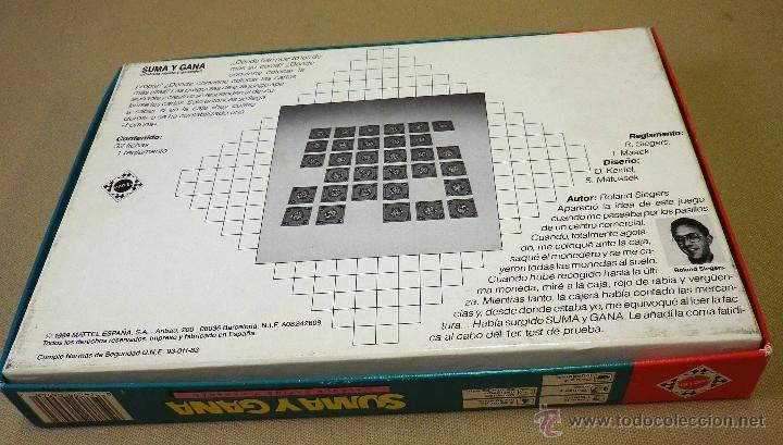 Juegos de mesa: JUEGO DE MESA, SUMA Y GANA, MATTEL, 1989, INCLUYE REGLAMENTO, COMPLETO - Foto 8 - 41423108